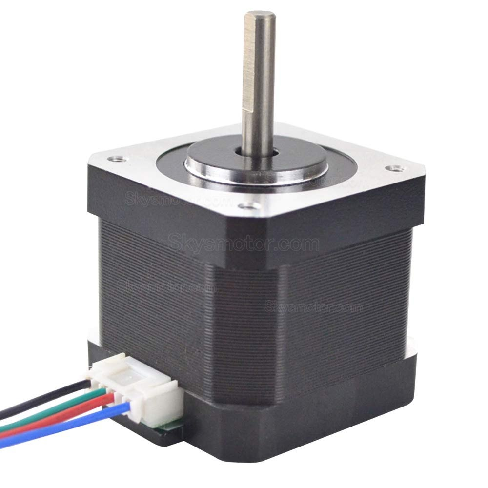 Nema 17 Stepper Motor 1.5A 12V 63.74oz.in  4-Lead 39mm Body W/ 1m Cable and Connector for DIY CNC/ 3D Printer/Extruder